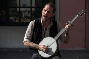 Man on The Road With a Banjo